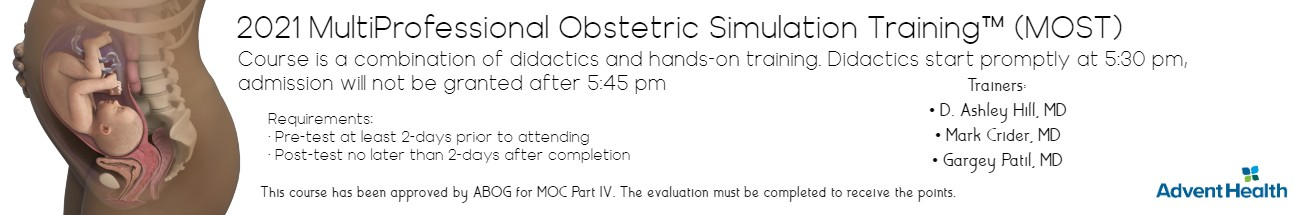 2021 Multi-Obstetric Simulation Training (MOST™) - Jun 17 Banner