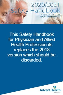 2020/2021 Safety Handbook for Physicians and Allied Health Professionals Banner