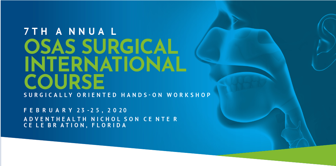 7th Annual International Obstructive Sleep Apnea Surgery Course (OSAS) 2020 Banner