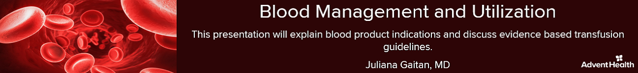 2020 Blood Management and Utilization Banner