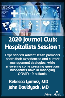 2020 Journal Club: Hospitalists Session 1 Banner