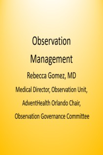 2019 Updates in Observation Management Banner