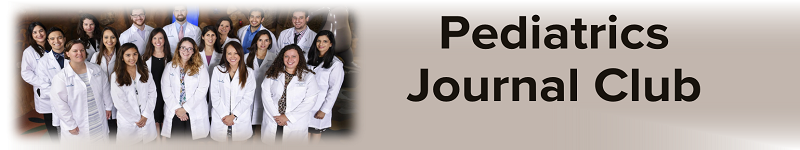 2020 Pediatrics Journal Club Banner